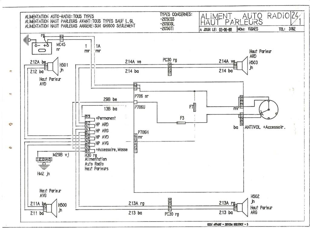 Faisceau électrique tableau de bord  1989_210