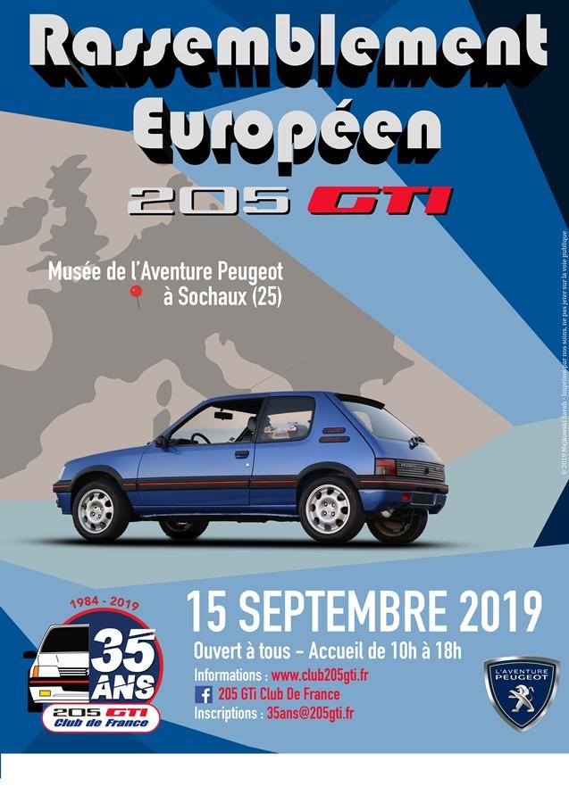 Sochaux - 35 ans de la 205 GTI - 15/09/15 Affich10