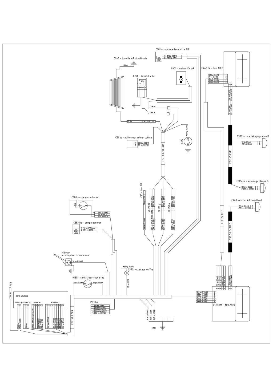 Identification connecteurs faisceau arrière Faisse13