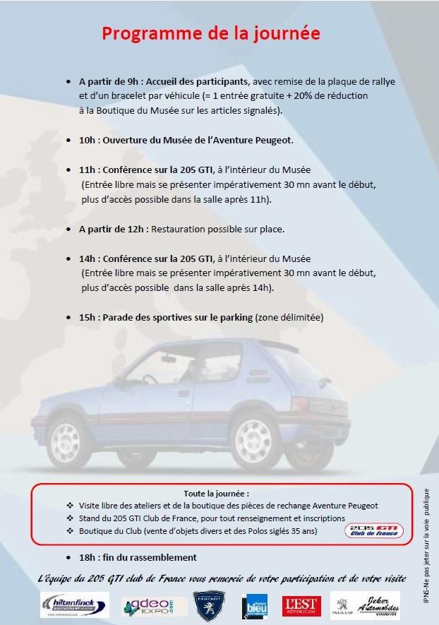 Sochaux - 35 ans de la 205 GTI - 15/09/19 - Page 6 Progra10