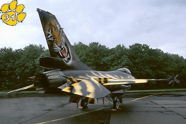 f-16A - force aérienne belge - tiger meet 1998 - ( kit revell 1/72 + decals eagle strike ) Ntm98-14