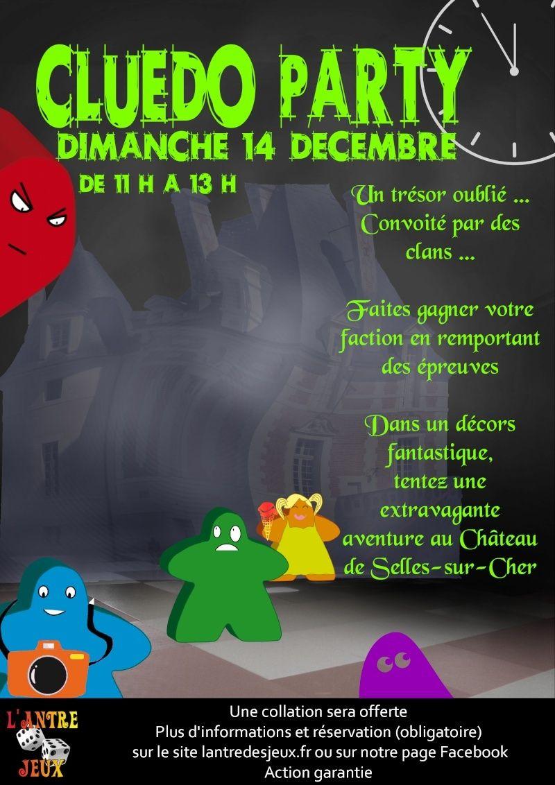 Du jeu et du chateau dans un Cluedo Party à Selles sur Cher le 14 décembre Affich11