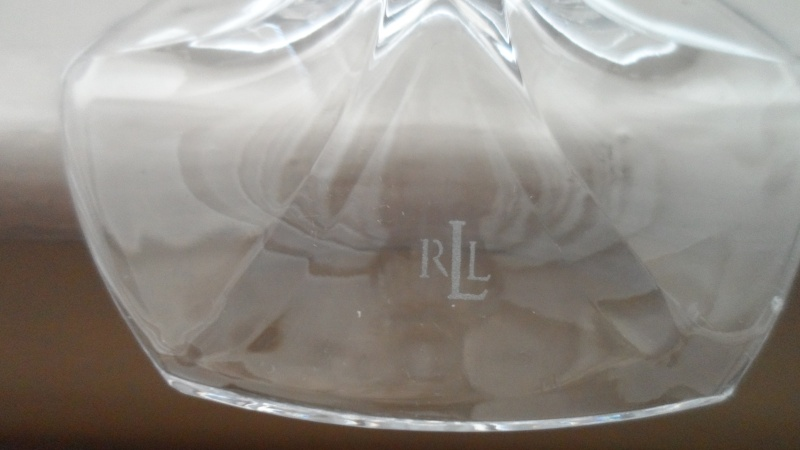 crystal glass vase stamped with rll mark Sam_0412