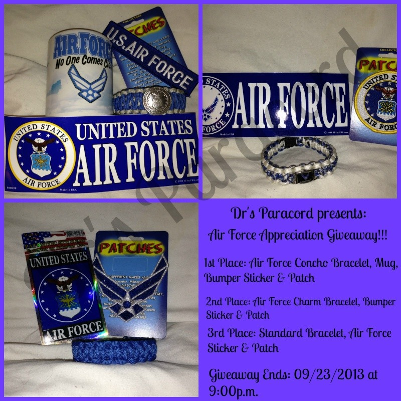 Dr's Paracord Air Force Appreciation Giveaway!! Airfor10