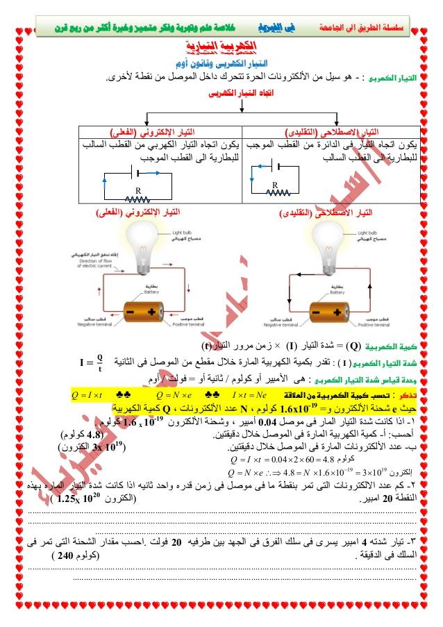 شرح التيار الكهربي وقانون أوم فيديو - فيزياء الثانوية العامة نظام جديد -1-63810