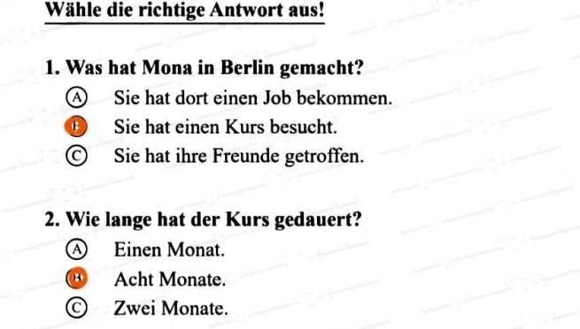 إجابة بوكليت الوزارة 2020 في اللغة الالمانية للثانوية العامة 011159