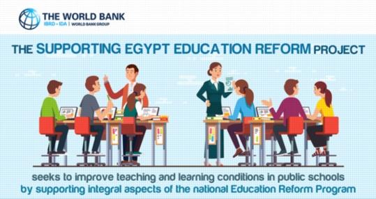 بيان البنك الدولي بشأن الجهود المبذولة لتحسين ظروف التعليم في مصر 01256