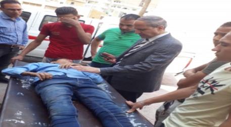 سقوط طالب من اعلى مدرسة بالفيوم ووكيل الوزارة يزوره بالمستشفى 01419