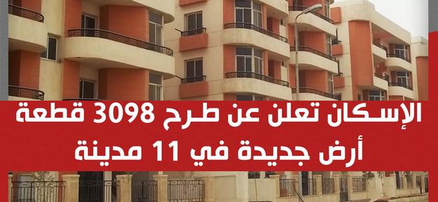 المساحات تبدأ من 209 لـ287 متر.. الإسكان: تطرح 3098 قطعة أرض في 11 مدينة 02216