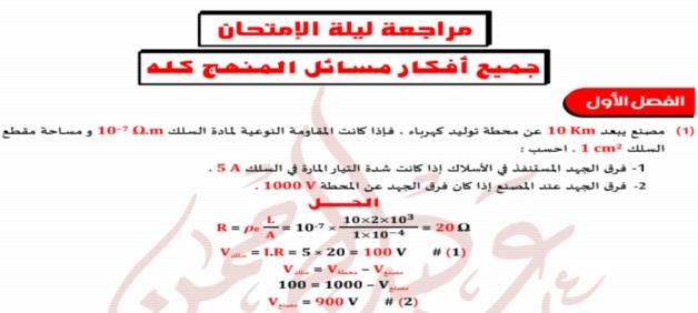 مراجعة الفيزياء للثانوية العامة أ/ عبد الرحمن اللباد.. جميع افكار ومسائل المنهج بالاجابات 02513