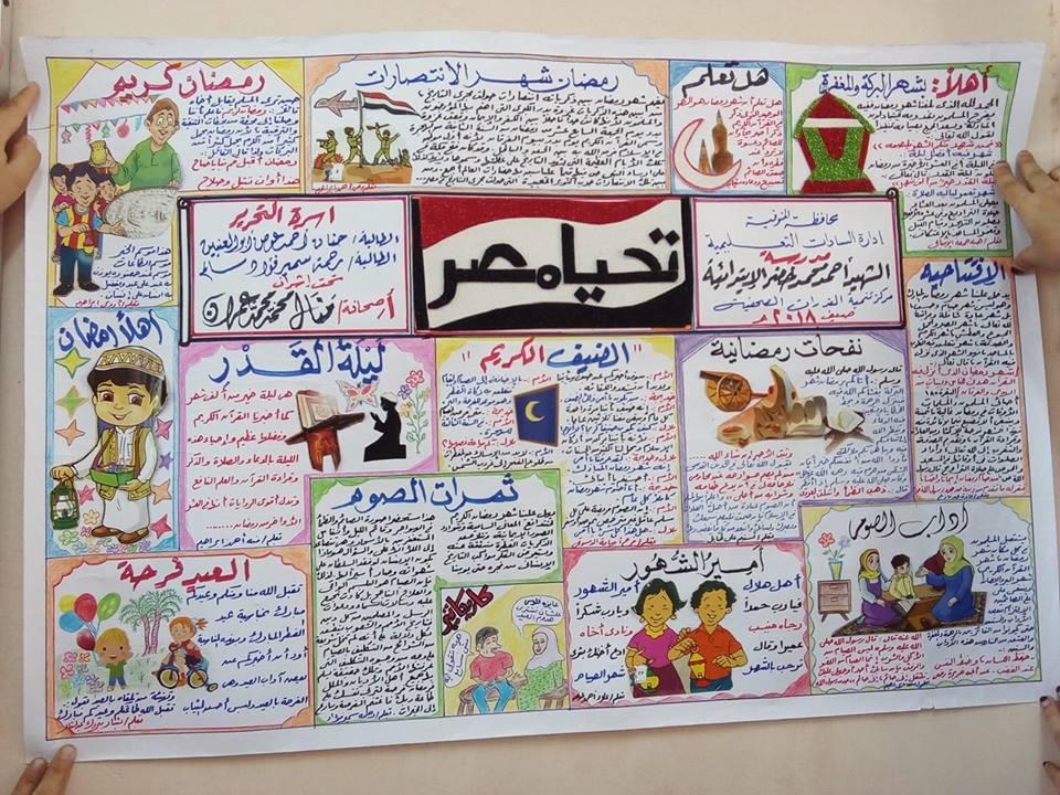 صحيفة حائط متخصصة عن شهر رمضان المبارك 2019 043