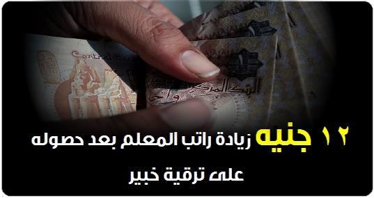 12 جنيه زيادة راتب المعلم بعد حصوله على ترقية خبير 0712