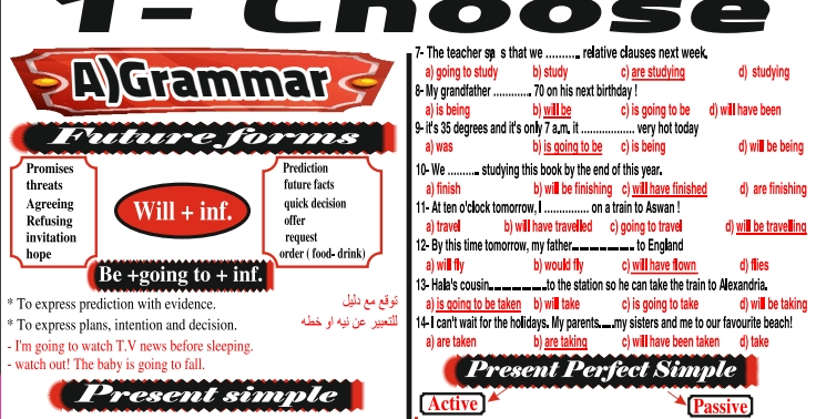 مراجعة اللغة الانجليزية للثانوية العامة مستر/ شريف المصري 0896