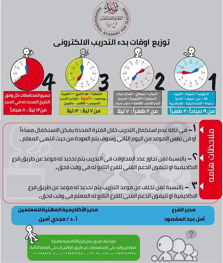 توزيع أوقات بدء التدريب الإلكتروني للمعلمين ترقيات ٢٠١٩ - ٢٠٢٠ 0_315