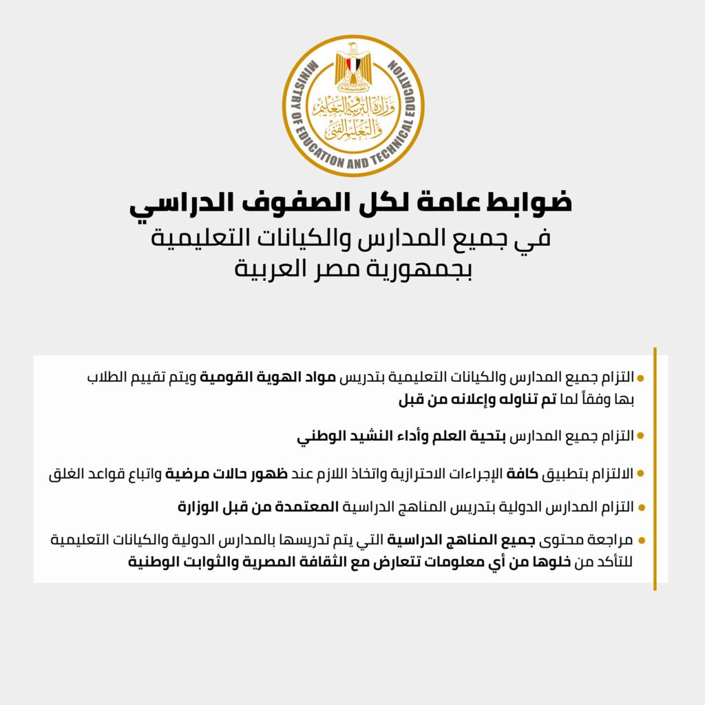 ضوابط الحضور بالمدارس خلال شهر رمضان 1057