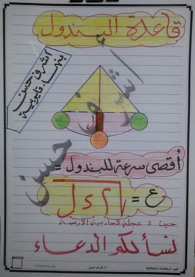 نصائح هامة فى ليلة إمتحان الديناميكا لطلاب الثانوية العامة من خبير الرياضيات أ/ أشرف حسن  11024