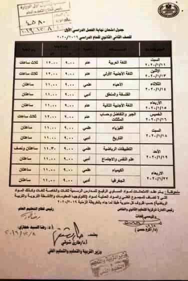 تعليمات مهمة لطلبة وطالبات تانية ثانوي قبل امتحانات يناير 11336
