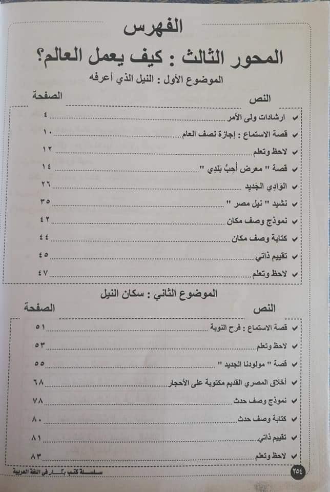 منهج اللغة العربية للصف الثاني الابتدائي ترم ثان 2020 11378