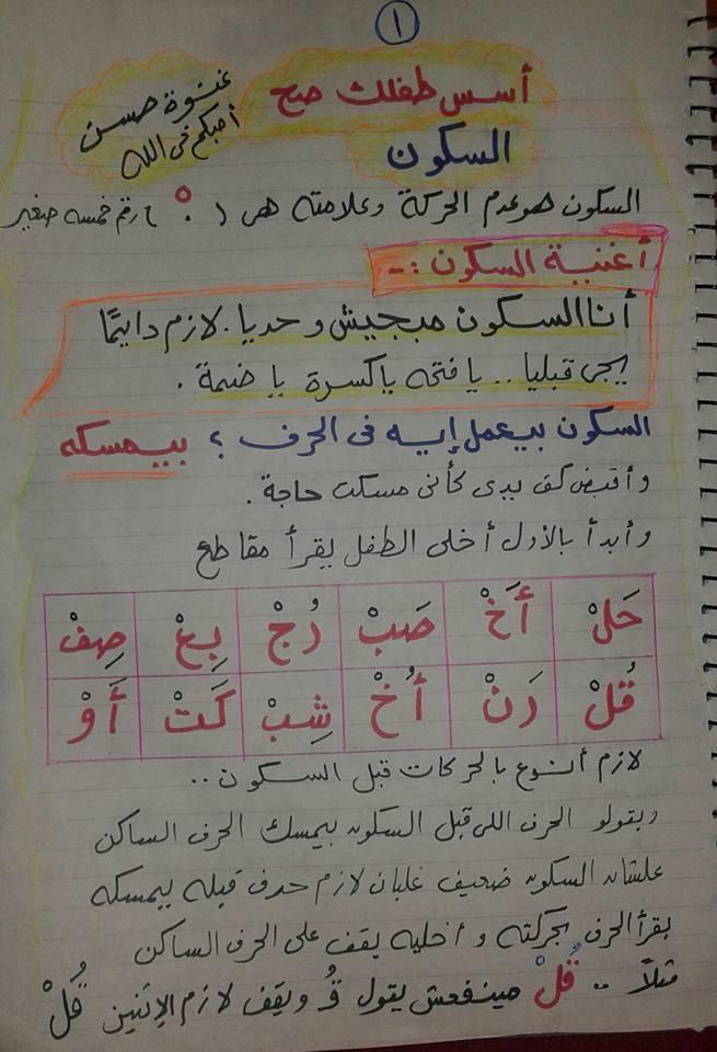 شرح السكون بطريقة بسيطة جدًا وتدريبات عليه.. ميس/ غنوة حسن 11506