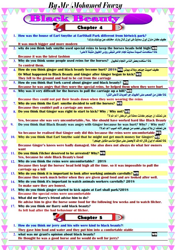 اقوى مائة سؤال على قصه الإنجليزى للصف الثالث الاعدادى الفصل الدراسى الثانى برابط مباشر 11584