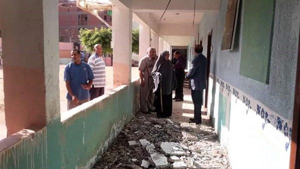 في أول يوم دراسة.. سقوط أجزاء من سقف مدرسة بالمنوفية والتعليم تخلي المبنى 11812