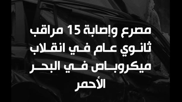في انقلاب ميكروباص.. مصرع 3 معلمين وإصابة 12 من مراقبي امتحانات الثانوية 11849