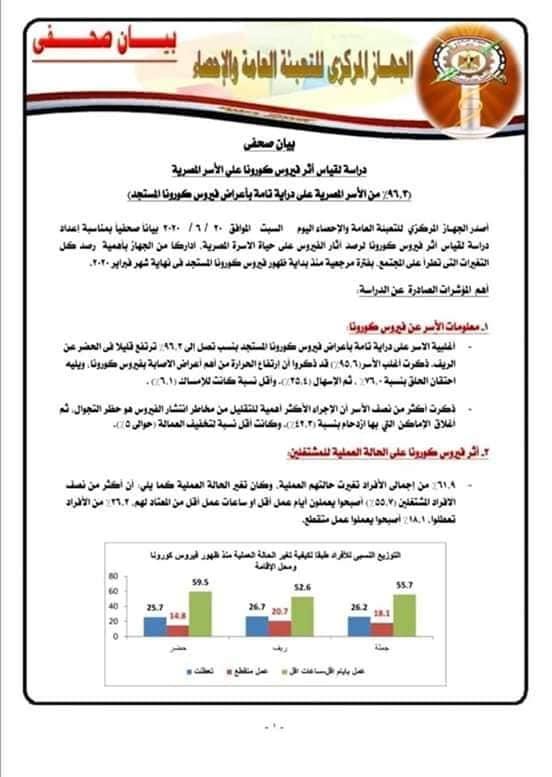 """تأثير كورونا على الأسرة المصرية """"بيان رسمي"""" 11873"""