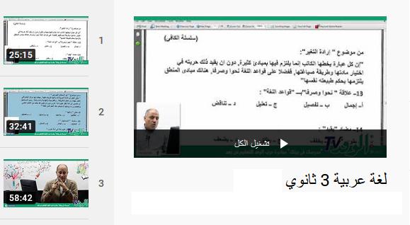 شرح دروس اللغة العربية للصف الثالث الثانوي نظام جديد | فيديو قناة الوفد التعليمي 12-110