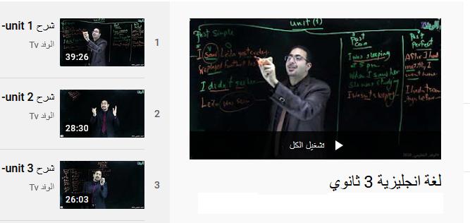 شرح دروس اللغة الانجليزية للصف الثالث الثانوي نظام جديد | فيديو قناة الوفد التعليمي 12-111