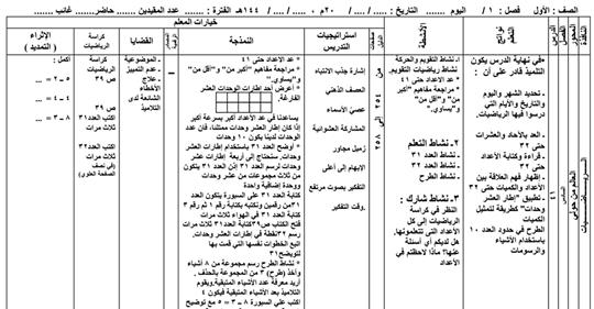 تحضير رياضيات الصف الأول الابتدائي من الدرس ٤١ حتى الدرس ٥٠ بصيغة pdf للطباعة 12010