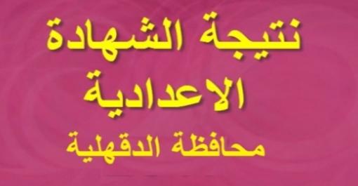 نتيجة الصف الثالث الإعدادي محافظة الدقهلية 12160