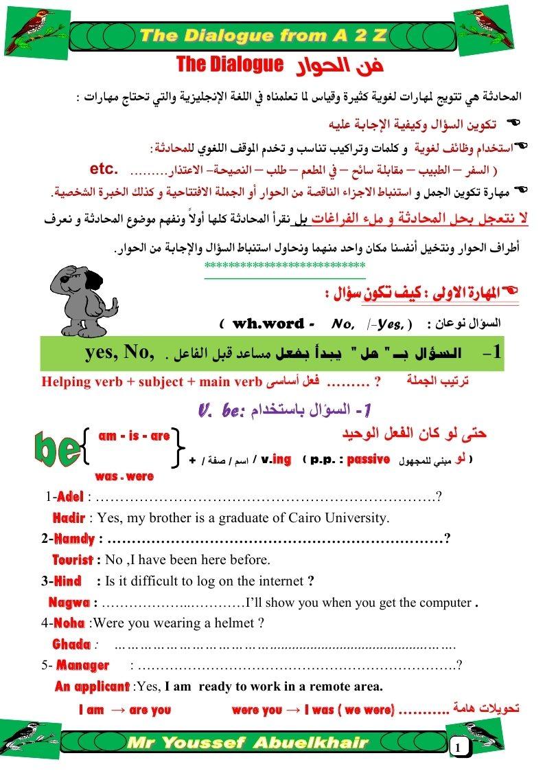 لغة انجليزية: مذكـرة شـــرح المحادثـــة من الألـــف إلى اليـــاء 12474