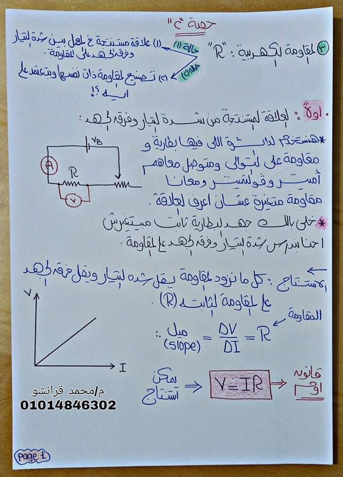 مذكرة الفيزياء للصف الثالث الثانوي 2021 م/ محمد قرانشو 12482