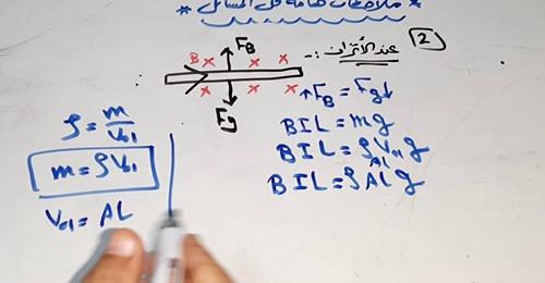 حل مسائل القوة المغناطيسية l فيزياء الصف الثالث الثانوي 12652