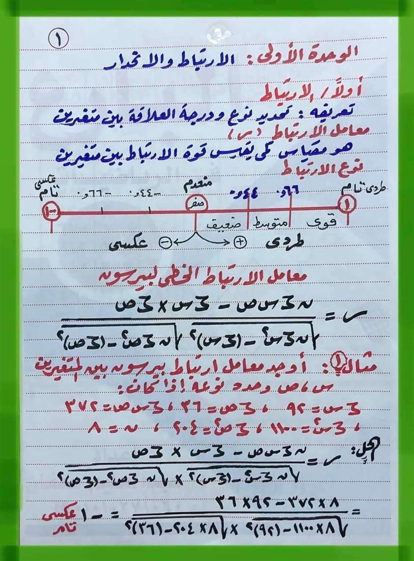 احصاء الثانوية العامة   نظام جديد ا/عبد الحليم سعفان 12723