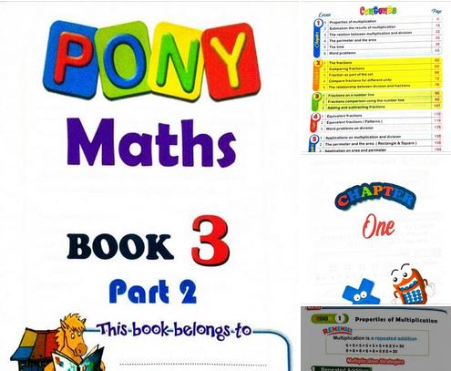 كتاب pony math تالتة ابتدائي الترم الثاني 1286