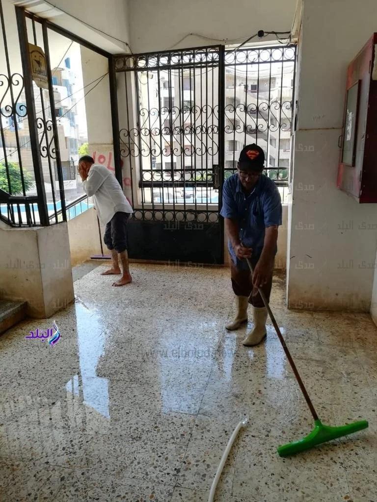 تعقيم وتنظيف المدارس استعدادا للامتحانات التجريبية لثانوية العامة  13463