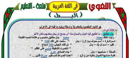 مراجعة نحو ثالثة اعدادي.. 100 سؤال على درس البدل أ/ عبد العزيز شاهين 1359