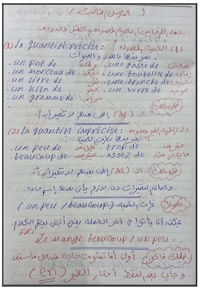 مراجعة لغة فرنسية الثانوية العامة مسيو حسام أبو المجد 13707