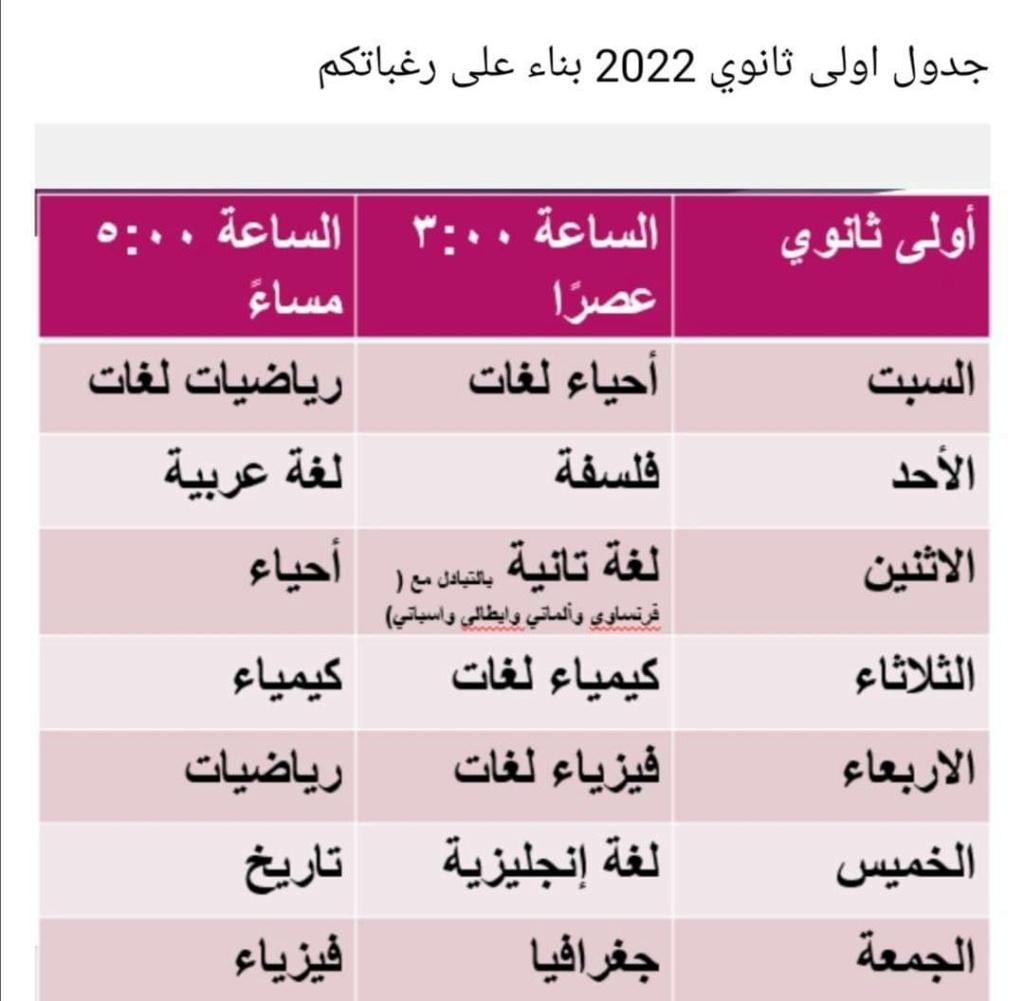 جدول قناه مصر التعليميه برنامج مدرسه علي الهواء لصفوف ابتدائي واعدادي وثانوي مواعيد 2022 13908