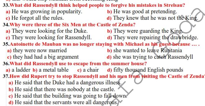 مراجعة اللغة الانجليزية للصف الثالث الثانوى أ/ مصطفى جودة 14166