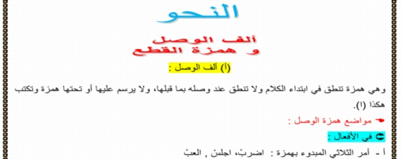 مراجعة التميز في النحو للصف الأول الإعدادي ترم أول أ/ احمد فتحي 14244