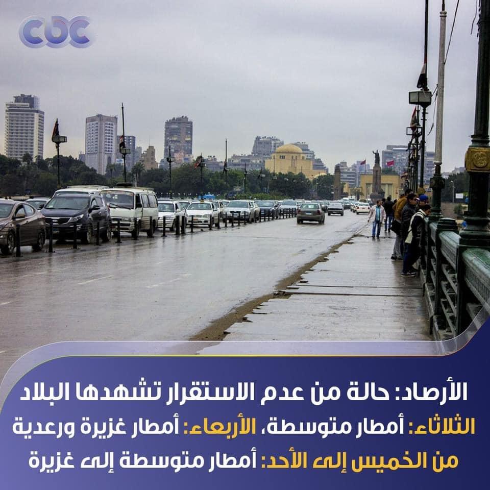 أمطار غزيرة ورعدية.. الأرصاد تحذر: حالة من عدم الاستقرار تشهدها البلاد لمدة 6 أيام 16148