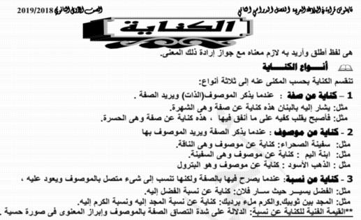 مذكرة البلاغة للصف الأول الثانوي ترم ثاني 2019 أ/ احمد الدرديري 1749
