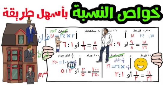 بالفيديو.. شرح دروس رياضيات الصف السادس بطريقة سهلة وكل درس محلول فيه تمارين كتاب المدرسة  2012