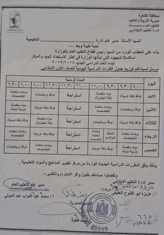 ملخص (توزيع الفترات - المقررات الدراسية - التقييم) في النظام التعليمي الجديد 2111