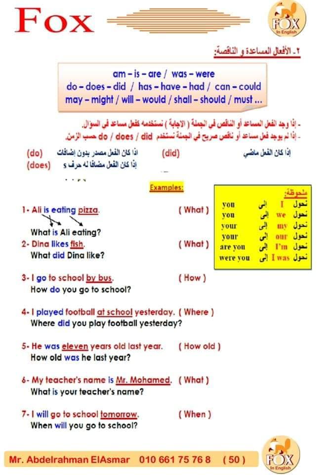 لغة انجليزية: طريقة حل المحادثات لجميع المراحل مستر/ عبد الرحمن الاسمر 21281