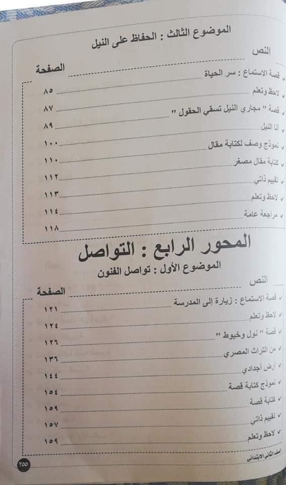 منهج اللغة العربية للصف الثاني الابتدائي ترم ثان 2020 21292