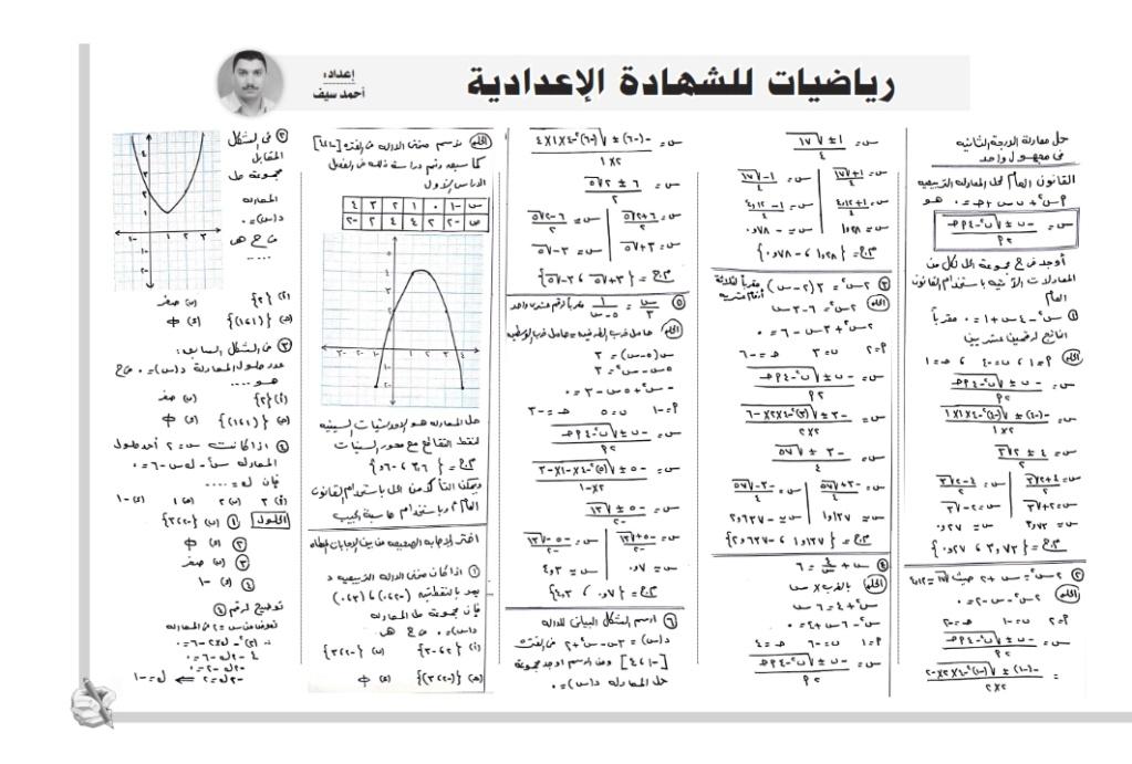 مراجعة ملحق المساء لغة عربية ورياضيات وانجليزى للصف الثالث الاعدادي ترم ثاني 2020 21441