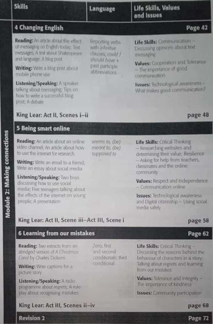 منهج اللغة الإنجليزية للصف الثاني الثانوى ٢٠٢١ 21677
